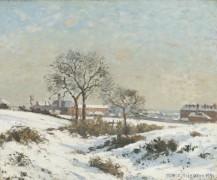 Снежный пейзаж в Южном Норвуде - Писсарро, Камиль