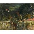 Бульвар ночью в Париже - Коровин, Константин Алексеевич