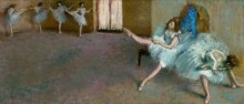 Разминка перед балетом - Дега, Эдгар