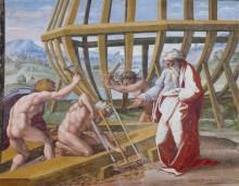 Строительство Ноева ковчега - Рафаэль, Санти
