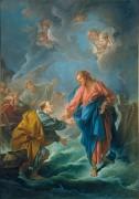 Святой Петр, идущий к Христу по воде - Буше, Франсуа