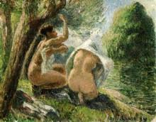Купальщицы 3, 1894 - Писсарро, Камиль
