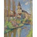 Школа и церковь в Лабасти-дю-Вер, 1915 - Мартен, Анри Жан Гийом
