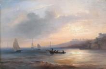 Морской пейзаж - Жюгле, Жан-Мари-Огюст