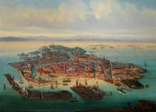 Вид Венеции с высоты птичьего полета, около 1890 года
