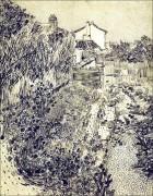 Сад с цветами (The Garden with Flowers), 1888 - Гог, Винсент ван