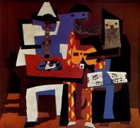Музыканты в масках, 1921 - Пикассо, Пабло