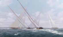 Яхта Js лидирует в регате королевского яхт-клуба 10 августа 1935 - Дьюз, Джон Стивен