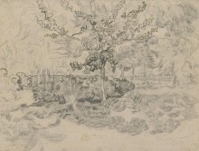 Деревья в больничном саду (Trees in the Garden of the Asylum), 1889 01 - Гог, Винсент ван