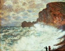 Штормовая погода в Этретате, 1883 - Моне, Клод