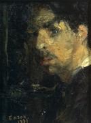 Портрет художника, 1879 - Энсор, Джеймс