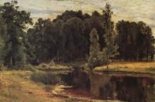 Пруд в старом парке, 1897 - Шишкин, Иван Иванович