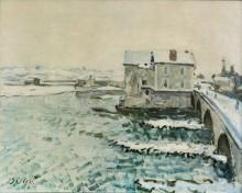 Мост в Море зимой - Сислей, Альфред