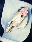 Лошадиный череп с розовой розой - О'Кифф, Джорджия