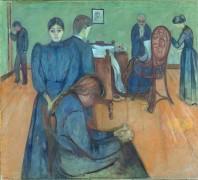 Смерть в комнате больного - Мунк, Эдвард