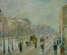 Снег в парижском бульваре - Писсарро, Камиль