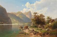 Пейзаж с озером Мондзе и горой Драхенванд - Хвала, Адольф