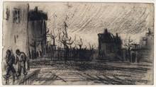 Городской пейзаж (City View), 1885-86 - Гог, Винсент ван
