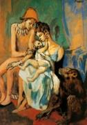 Семья акробатов с обезьянами, 1905 - Пикассо, Пабло