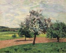 Яблони цветут, Иль-де-Франс, 1887 - Гийомен, Арманд