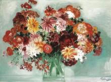 Букет цветов -  Домерг,  Жан-Габриэль