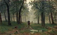 Дождь в дубовом лесу, 1891 - Шишкин, Иван Иванович