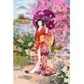 Знатная дама в цветущем саду