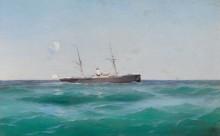 Судно в море - Алисов, Михаил Александрович