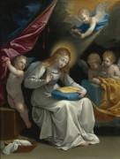 Вышивающая Мадонна в окружении ангелов - Рени, Гвидо