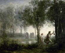 Орфей, ведущий Эвридику из царства мертвых - Коро, Жан-Батист Камиль