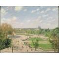 Сад Тюильри  -утро, весна, солнце, 1899 - Писсарро, Камиль