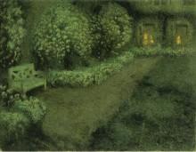 Белый сад под луной, Герберой, 1925-30 - Сиданэ, Анри Эжен Огюстен Ле