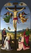 Распятие с Девой Марией, святыми и ангелами (Распятие Монд) - Рафаэль, Санти