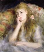 Портрет молодой женщины в кресле - Ренуар, Пьер Огюст