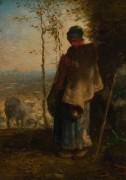 Молодая пастушка - Милле, Жан-Франсуа