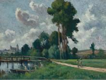 Осер, пейзаж на берегу реки, 1900 - Люс, Максимильен