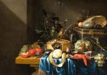 Натюрморт с фруктами, пирогом и стеклянными стаканами - Джиллеменс, Ян Пауэл (младший)