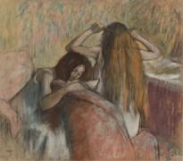 Женщина делает прическу, 1892-95 - Дега, Эдгар