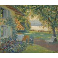 Сад художника на берегу озера Штарнберг - Какьюл, Эдвард