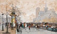Вид на собор Парижской Богоматери - Гальен-Лалу, Эжен