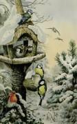 Кормушка с зимними птицами - Доннер, Карл (20 век)
