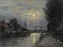 Канал Сент-Дени, Лунный эффект (The Saint-Denis Chanal, Moon Effect), 1876-79 -  Лепин, Станислав, Виктор Эдуард