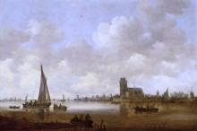 Вид на Дордрехт - Гойен, Ян ван