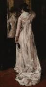 Зеркало и розовое платье, 1883 - Чейз, Уильям Меррит