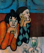Арлекин и его партнер,1901 - Пикассо, Пабло