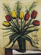 Желтые и красные тюльпаны - Бюффе, Бернар