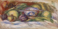 Натюрморт с фигами и яблоками - Ренуар, Пьер Огюст