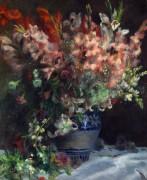 Гладиолусы в вазе - Ренуар, Пьер Огюст
