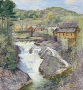 Водопад. (The Falls), 1909-10 - Меткалф, Уиллард Лерой
