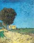 Сельская улица близ Арля (Lane near Arles (Side of a Country Lane)), 1888 - Гог, Винсент ван